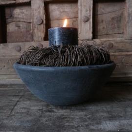 """Stenen bowl """"antraciet""""(Ø22 cm)"""