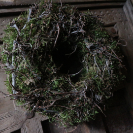Bonsai krans met mos (Ø30 cm)
