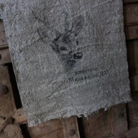 """Shabby linnen  """"Hertje"""" (30x45 cm)"""