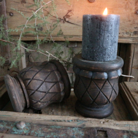 Massief houten kandelaar (donker)