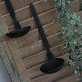 Hangende Waxinehouder zwart metaal