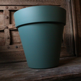 "Kunststof pot ""Cypress green"" (Ø 34 cm)"