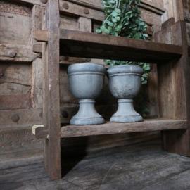 Teak houten wandrek (Br. 45 cm.)