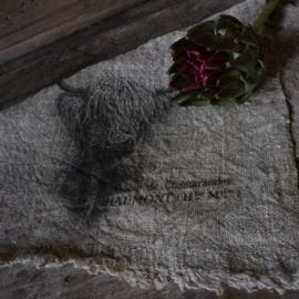 "Shabby linnen  ""Schotse Hooglander"" (30x45 cm)"