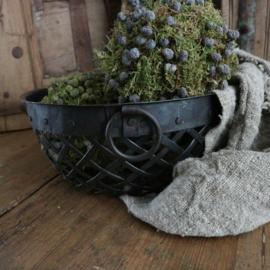 Iron basket  Dark(Ø26 cm)