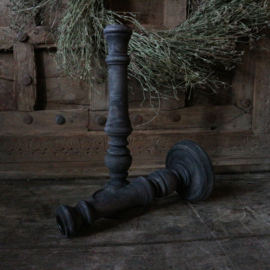 """Houten kandelaar """"Grey"""" 2 (25 cm hoog)"""
