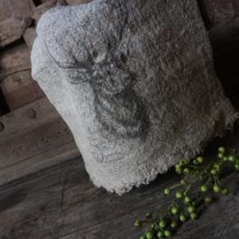 """Shabby linnen  """"Hert"""" (30x45 cm)"""