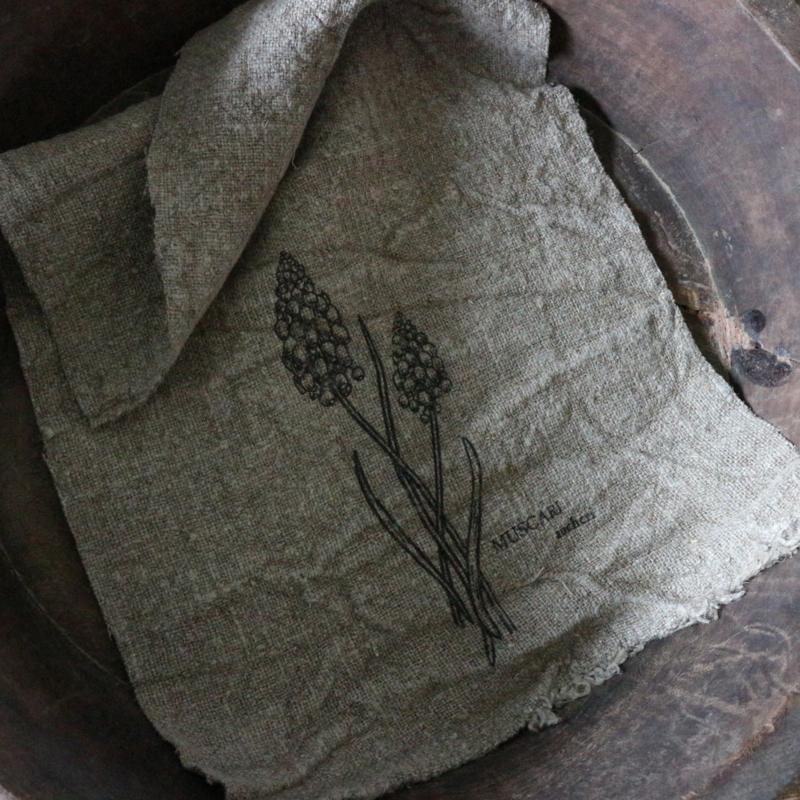 """Shabby linnen  """"Blauwe druif""""(30x45 cm)"""