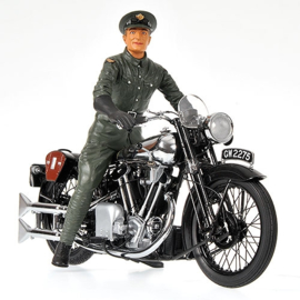 1;12<>BROUGH SUPERIOR SS 100 + Figurine T.E.LAWRENCE - 1932 - SET - mc122135500+312321350