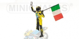 1;12<>Valentino Rossi + flag.  GP 125cc  year 1996.  mc312960146
