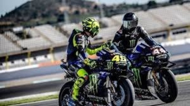 1;12<> YAMAHA YZR-M1 - SET 2 Bikes + 2 Figurines. HAMILTON and ROSSI - Test VALENCIA 2019  mc.122194446