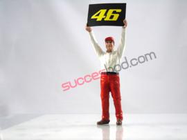 1;18<>DUCATI PITCREW MAN holding  #46 Board VALENTINO ROSSI. art 4606/428