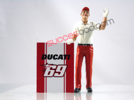 1;18<>DUCATI PITCREW MAN with #69 Ducati board  art.6901/707