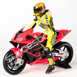"1;12<>HONDA RC 211V - Set - MotoGP 2001 ""MOTEGI - Rossi #46  + Figurine. mc 122017946+"