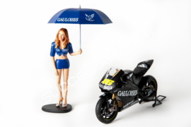 1;12<> FIGURINE YAMAHA GRID GIRL (Tobacco) MotoGP 2004 - mc312040001co
