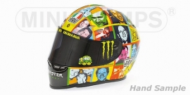 "1;02<> Helmet. mc328100096.  ROSSI GP 2010 "" FACES""."