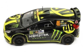 1;18<> FORD FIESTA RS  WRC - ROSSI #46 + CASSINA - MONZA 2014 .