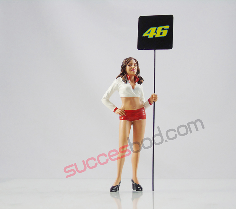 1;18<>GRID GIRL  with plate #46 Valentino Rossi  art 4601/437