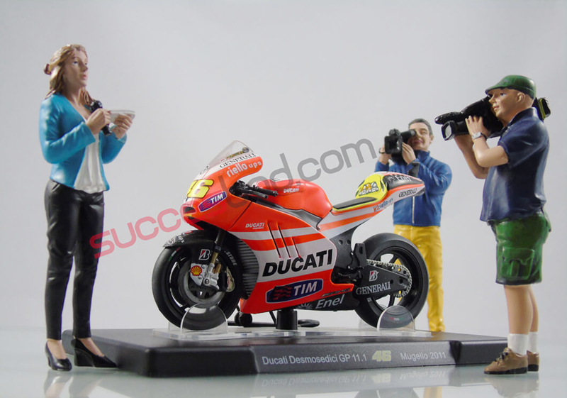 Valentino Rossi 1//12 Ducati GP11 Generali Motorcycle 2011 MotoGP New Ray