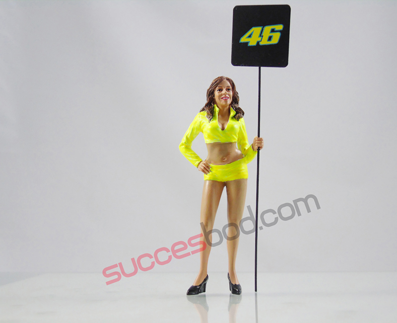 1;18<>GRID GIRL with plate #46 Valentino Rossi  art.4602/437