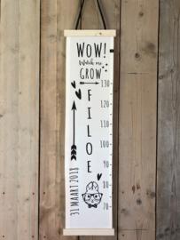 Groeimeter FILOE met naam en geboortedatum