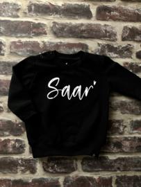 Sweater Dress met naam | BLACK