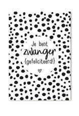 Minikaartje Zwanger (gefeliciteerd)  | Zoedt