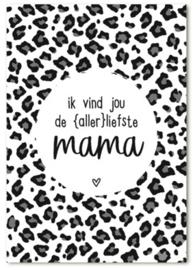 Minikaartje Ik vind jou de allerliefste Mama | Zoedt