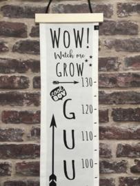 Groeimeter GUUS met naam en geboortedatum