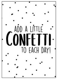 Kaart Add a little confetti to each day