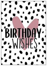 Kaart Birthday Wishes