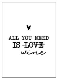 Kaart All you need is wine