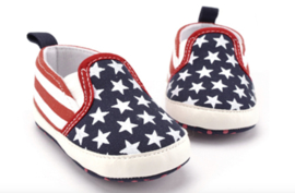 USA STARS & STRIPES COTTON Moccasin (3-18 mnd)