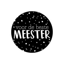 5x Sticker | voor de beste Meester