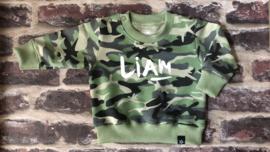 Sweater Camouflage met naam
