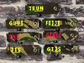 Camouflage Sleutelhanger met naam
