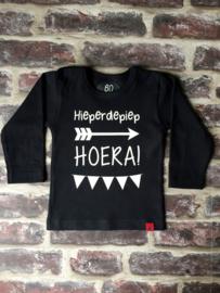 Shirt Hieperdepiep HOERA + Naam & Leeftijd Rugzijde