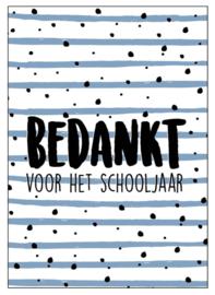 Kaart Bedankt voor het schooljaar!