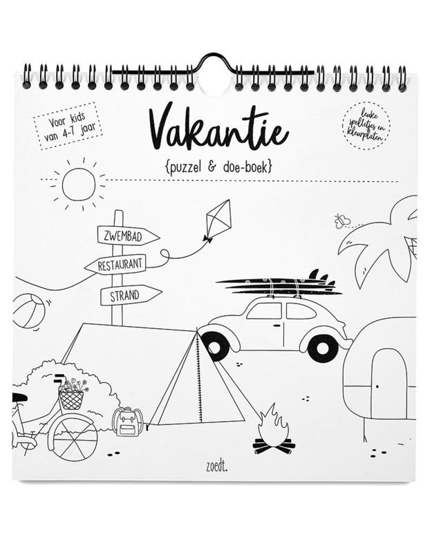 Vakantie puzzel en doe-boek | Zoedt