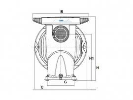 DAB pomp Euroswim 75 M capaciteit 13,8 m³/uur 230 volt 0,75 HP
