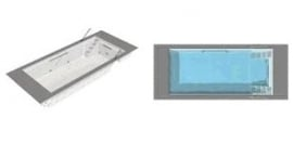 Polyester zwembad Twin lengte 700/800/745/845/945, breedte 320/370, diepte 1,50m. Compleet Reku Pool pakket, wit / zeeblauw / zandkleur / papyrus