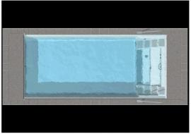 Polyester zwembad Twin 'S' lengte 700/800/745/845/945, breedte 320/370, diepte 1,50m. Compleet Reku Pool pakket, wit / zeeblauw / zandkleur / papyrus