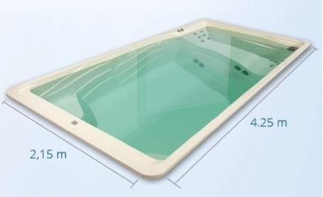 Pretty Pool Acryl zwemspa versie 2 (medium) afmeting 5 x 2,60 x 1,30