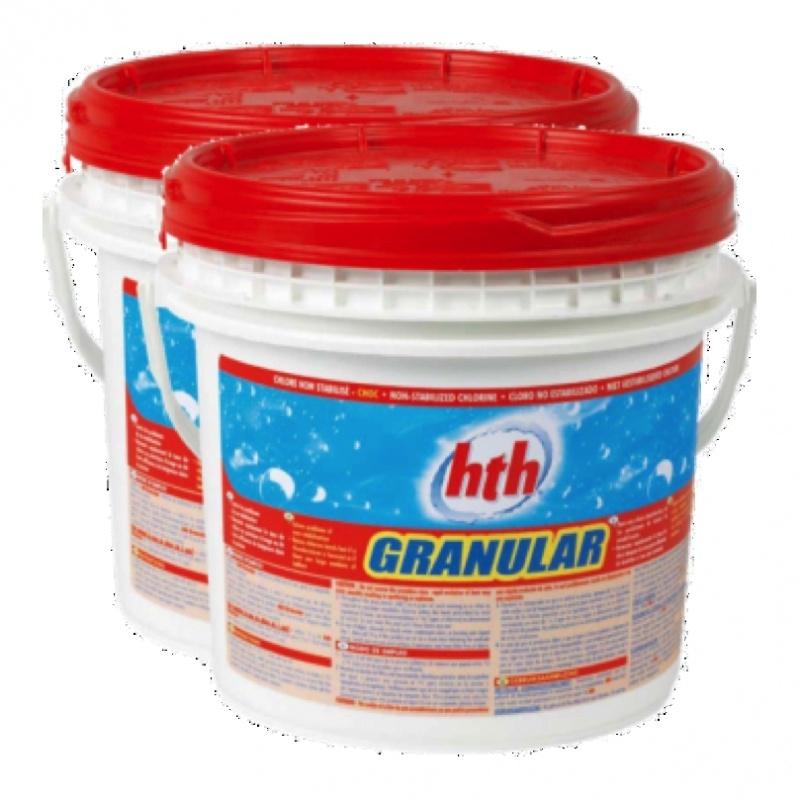 Chloorgranulaat 65%, 5kg. Voor een shockbehandeling van het zwembadwater