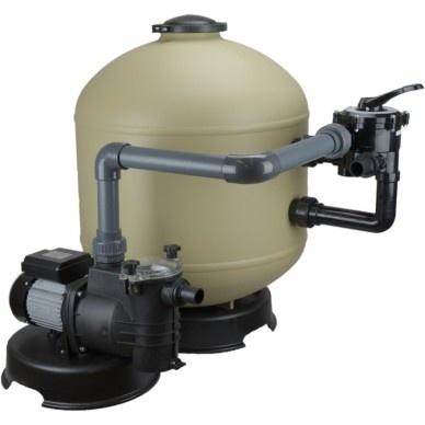 Zandfilterset Sidemounted Deluxe Premium Shott 15 m³/uur, badinhoud<100m3