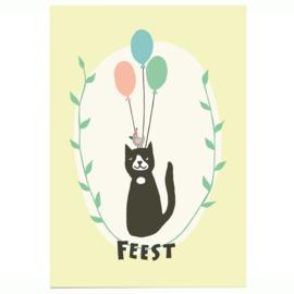 Postkaart - Verjaardagskat