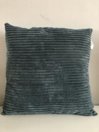 Ribkussen - Blauw