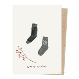 Kerstkaart - Sokken