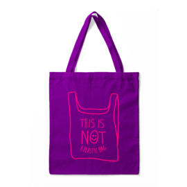 Tas - This Is Not A Plastic Bag - Paars