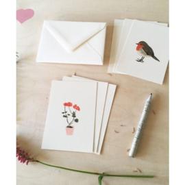 Set Mini kaartjes met envelop